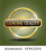 genuine quality gold emblem | Shutterstock .eps vector #419415241