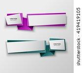origami paper infographic... | Shutterstock .eps vector #419419105