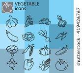 web icons set   vegetables | Shutterstock .eps vector #419426767