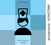 web icon. doctor | Shutterstock .eps vector #419427889