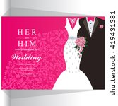 wedding invitation or card with ... | Shutterstock .eps vector #419431381