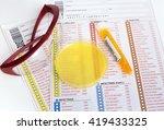urianalysis. medical report ... | Shutterstock . vector #419433325