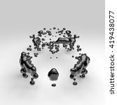 3d render abstract supercar... | Shutterstock . vector #419438077