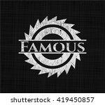 famous written on a blackboard | Shutterstock .eps vector #419450857