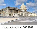 Stock photo clouds drift over the united states capitol building located in washington d c 419455747