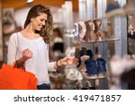 smiling attractive young women... | Shutterstock . vector #419471857