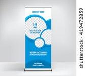 banner roll up design ... | Shutterstock .eps vector #419472859