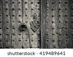 Ancient Weathered Door With...