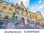 the city hall of bilbao  spain  ... | Shutterstock . vector #419499445