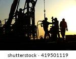 oil drilling exploration  the... | Shutterstock . vector #419501119