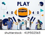 play quarterback rugby american ...   Shutterstock . vector #419502565