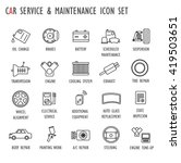 car   vehicle   auto service  ... | Shutterstock .eps vector #419503651