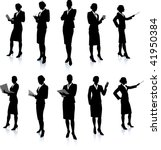 young business woman silhouettes | Shutterstock .eps vector #41950384