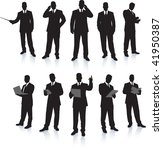 Young Business Men Silhouettes...