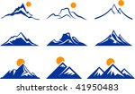 mountains icons | Shutterstock .eps vector #41950483