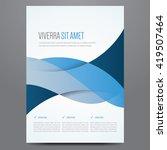 flyer  brochure  poster  annual ... | Shutterstock .eps vector #419507464