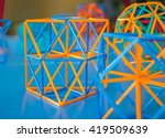 colored three dimensional model ... | Shutterstock . vector #419509639