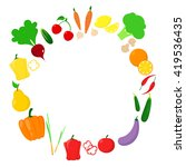 a round of vegetable | Shutterstock .eps vector #419536435