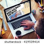 breaking news announce article... | Shutterstock . vector #419539414