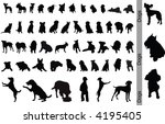dogs. 50 silhouettes. | Shutterstock .eps vector #4195405