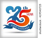 75th year anniversary design... | Shutterstock .eps vector #419543725
