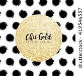 modern chic gold background...   Shutterstock .eps vector #419546557