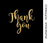 modern chic gold thank you card ... | Shutterstock .eps vector #419546611