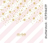 modern chic gold star shape... | Shutterstock .eps vector #419546659
