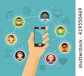 social media design. networking ... | Shutterstock .eps vector #419550469