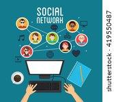 social media design. networking ... | Shutterstock .eps vector #419550487