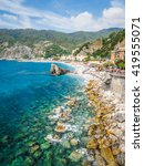rocky coastline with turquoise... | Shutterstock . vector #419555071