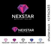 next star logotype | Shutterstock .eps vector #419562655