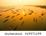 Boats In Tam Giang Lagoon In...
