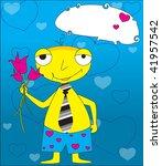 yellow man | Shutterstock .eps vector #41957542