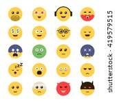 vector set emoticon.... | Shutterstock .eps vector #419579515