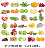 fruits isolated on white... | Shutterstock . vector #419588557
