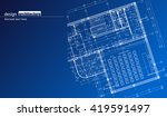 abstract architectural... | Shutterstock .eps vector #419591497