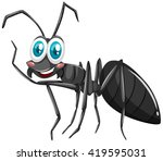 Black Ant With Smiling Face...
