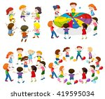 children playing different... | Shutterstock .eps vector #419595034