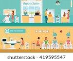hair salon interior building... | Shutterstock .eps vector #419595547