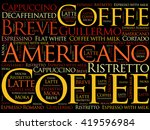 list of coffee drinks words... | Shutterstock .eps vector #419596984