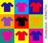 t shirt sign | Shutterstock . vector #419607721