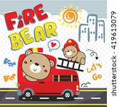 bear and his brother driving... | Shutterstock .eps vector #419613079