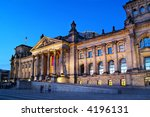 Berlin Reichstag at dawn - stock photo