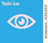 eye icon. flat design style.