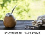 Yerba Mate In Gourd Matero Wit...