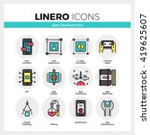 line icons set of mobile...