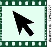 cursor sign icon  vector... | Shutterstock .eps vector #419631109