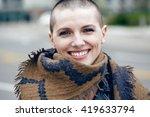 closeup portrait of happy... | Shutterstock . vector #419633794
