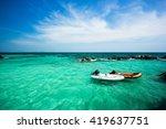 sea boat | Shutterstock . vector #419637751